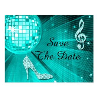 Sparkly Stiletto Heel 17th Birthday Save The Date Postcard