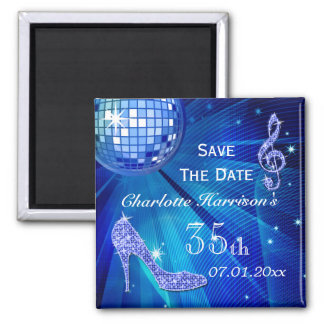 Sparkly Stiletto Heel 35th Birthday Save The Date Magnet