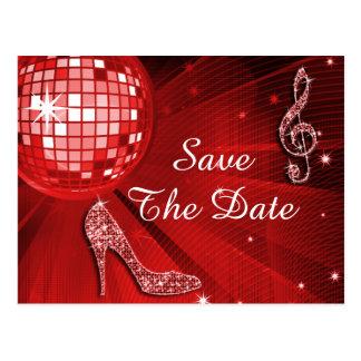 Sparkly Stiletto Heel 40th Birthday Save The Date Postcard
