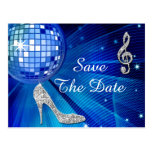 Sparkly Stiletto Heel 50th Birthday Save The Date Post Cards