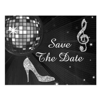 Sparkly Stiletto Heel 55th Birthday Save The Date Postcard