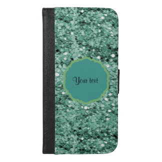 Sparkly Teal Glitter iPhone 6/6s Plus Wallet Case