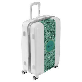 Sparkly Teal Glitter Luggage