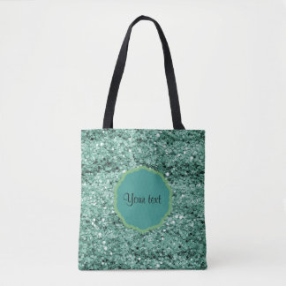 Sparkly Teal Glitter Tote Bag
