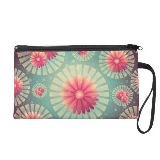Sparkly Water Medallions Wristlet