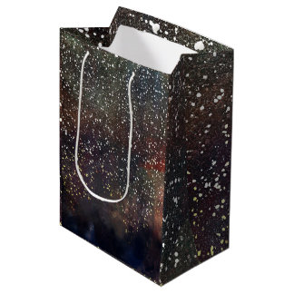 Sparkly Watercolor Earthy Rustic Modern Glam Party Medium Gift Bag