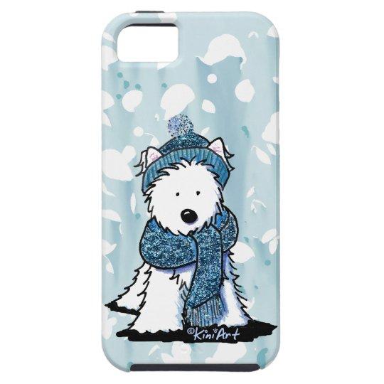 Sparkly Winter Westie iPhone SE/5/5s Case