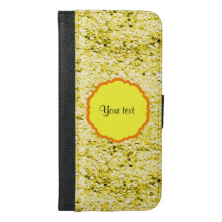 Sparkly Yellow Glitter iPhone 6/6s Plus Wallet Case