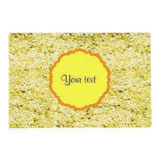 Sparkly Yellow Glitter Placemat