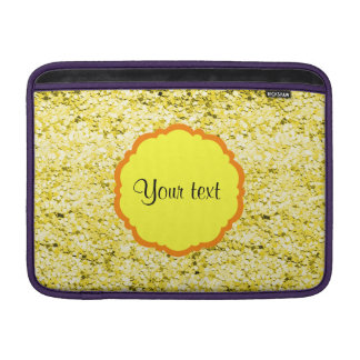 Sparkly Yellow Glitter Sleeve For MacBook Air