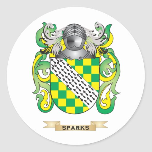 Sparks Coat of Arms (Family Crest) Sticker