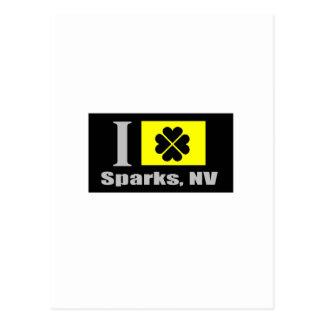Sparks, NV Fan Goods Postcard
