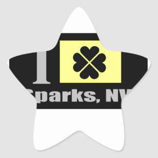 Sparks, NV Fan Goods Star Sticker