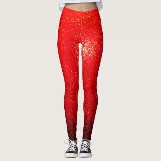 Sparks Of Red Leggings