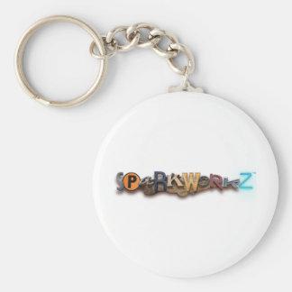 Sparkworkz! Basic Round Button Keychain