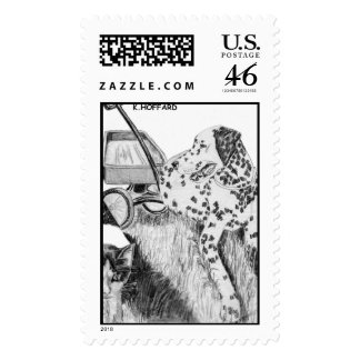 """Sparky and Boo"" Postage Stamp"