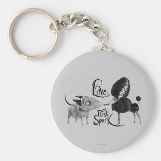 Sparky and Persephone: Love at First Spark Basic Round Button Keychain