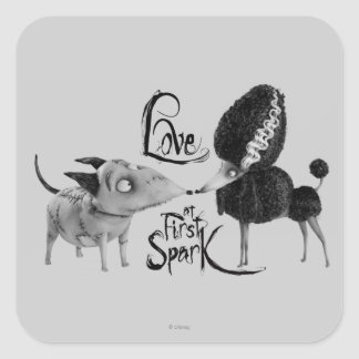 Sparky and Persephone: Love at First Spark Square Sticker
