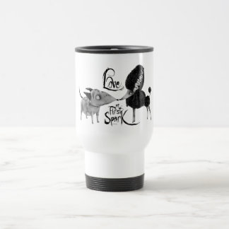 Sparky and Persephone: Love at First Spark Travel Mug