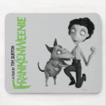 Sparky and Victor with Baseball Mouse Pads