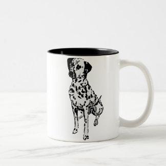 Sparky Dalmatian Dog Two-Tone Coffee Mug