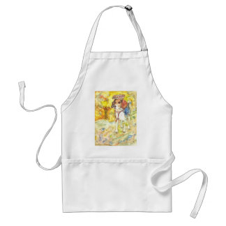 Sparky Dog goes to medical school Adult Apron