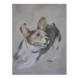 Sparky Dog:  Running Postcard