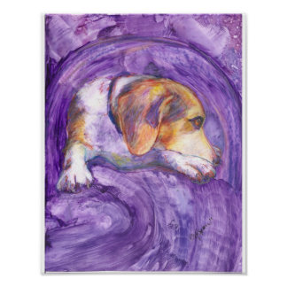 Sparky Dog:  The Pensive Pup Poster
