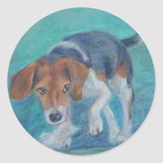 Sparky Dog:  The Trash Hound Beagle Classic Round Sticker