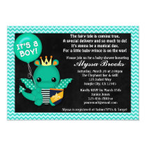 Sparky Dragon Baby Shower Invitations Boys #197