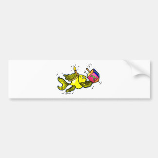 Sparky Hanuka Fish - Comic Cure Drawing Gift Bumper Sticker