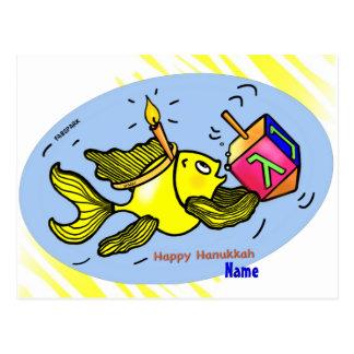 Sparky Hanuka Fish - Comic Cure Drawing Gift Postcard