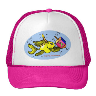 Sparky Hanuka Fish - Comic Cute Drawing Hat