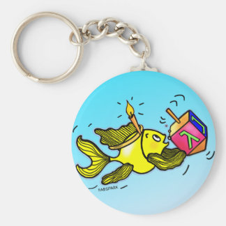 Sparky Hanuka Fish - Funny Cute cartoon Keychain