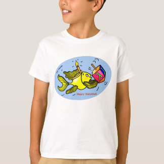 Sparky Hanuka Fish - funny cute cartoon T-shirt