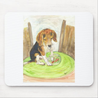 Sparky in the fishbowl mouse pad