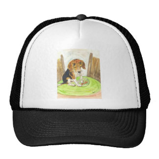 Sparky in the fishbowl trucker hat