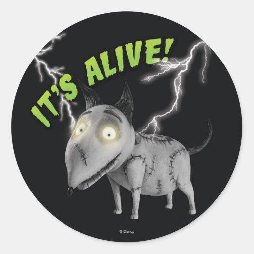 Sparky: It's Alive Classic Round Sticker