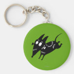 Sparky Running Silhouette Key Chain