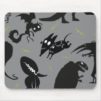 Sparky Running Silhouette Mouse Pad