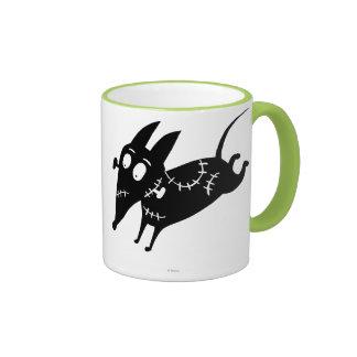 Sparky Running Silhouette Ringer Mug