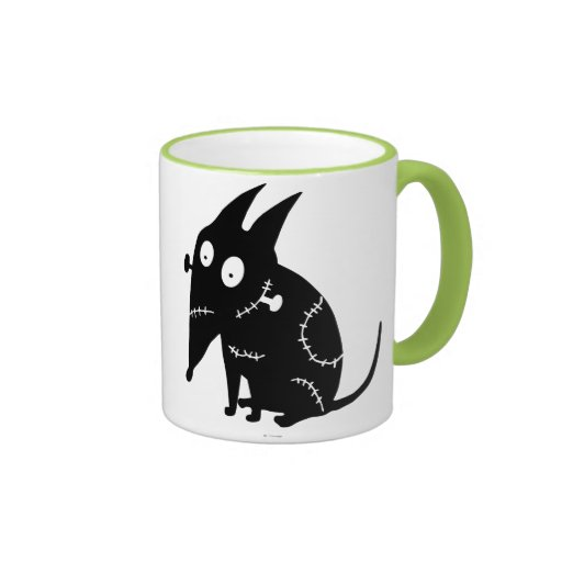 Sparky Sitting Silhouette Coffee Mugs | Zazzle