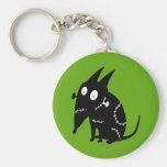 Sparky Sitting Silhouette Key Chain
