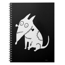 Sparky Sitting White Notebook