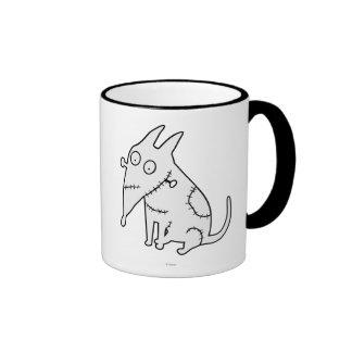 Sparky Sitting White Ringer Mug