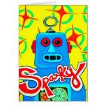 Sparky the Robot Card