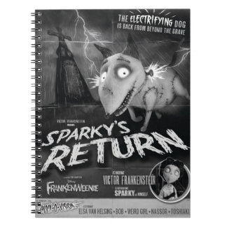 Sparky's Return Movie Poster Spiral Notebook