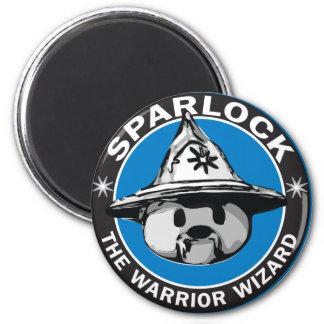 Sparlock the Warrior Wizard 2 Inch Round Magnet
