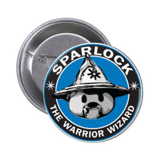 Sparlock the Warrior Wizard Button