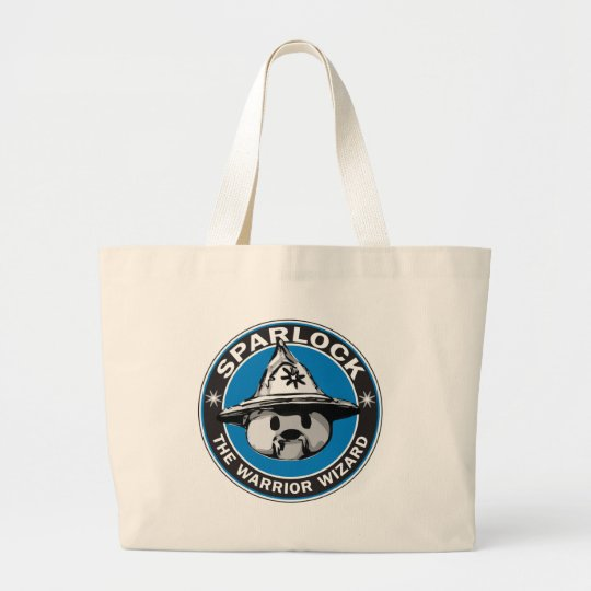 Sparlock the Warrior Wizard Large Tote Bag